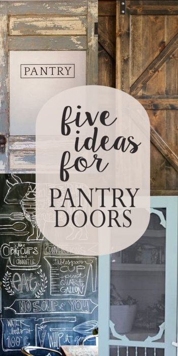 five ideas for pantry doors