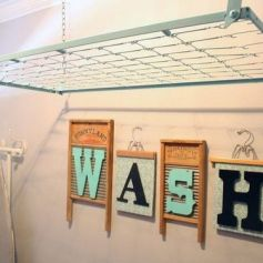 Laundry Room Drying Rack 2