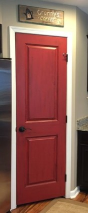 Pantry Painted Red
