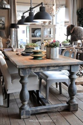 farmhouse style dining table post legs tamcam10