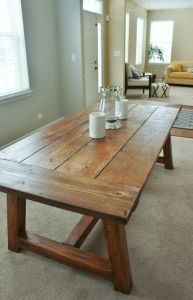 farmhouse style dinning table wide boards top tamcam10