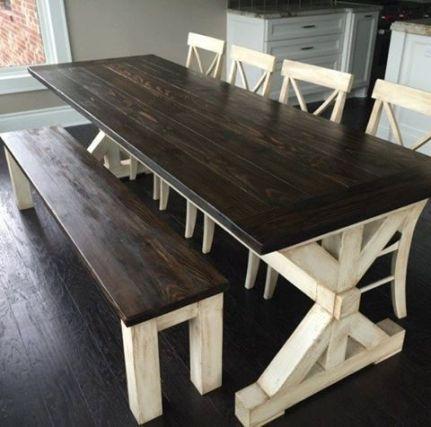 farmhouse style table X design