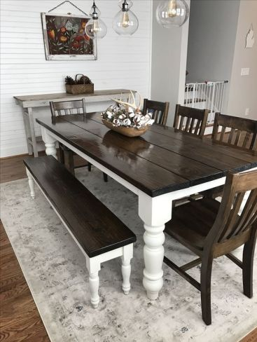 Farmhouse Table with Bench tamcam10