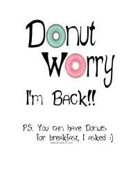 Donut Worry Im Back Elf on the Shelf tamcam10
