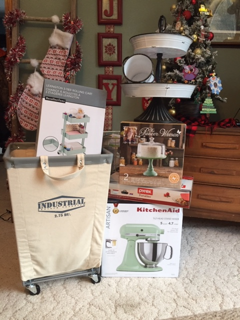 Christmas 2018 tamcam10 KitchenAid Stand Mixer Industrial Laundry Cart Pioner Women Mint Green