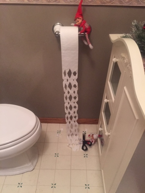 Elf on the Shelf Snow Flake Toilet Paper tamcam10