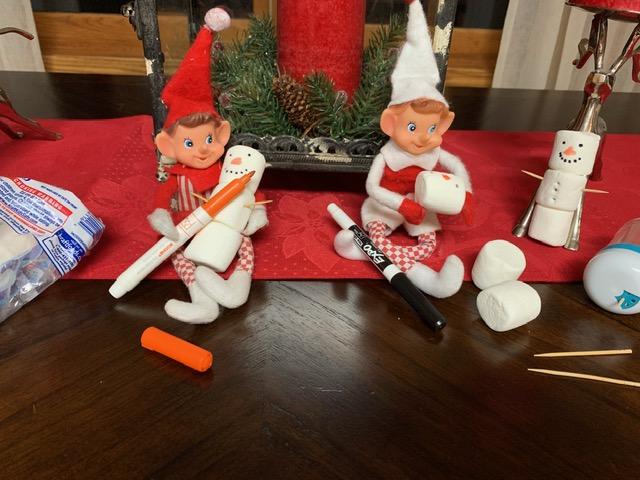 Elf on the Shelf Snowman Marshmallows tamcam10
