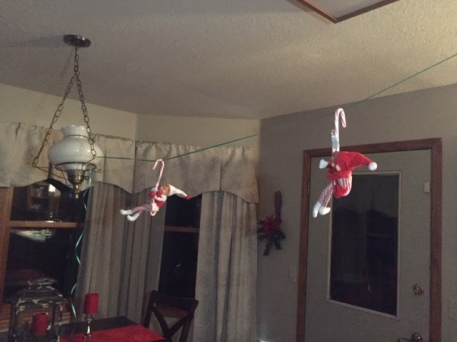 Elf on the Shelf tamcam10 Candy Cane Hang Glide 2