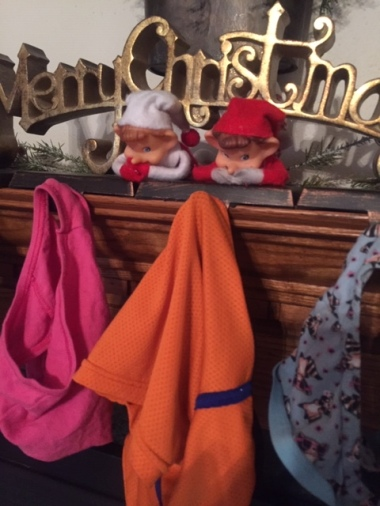 Elf on the Shelf Underwear Hung Fireplace tamcam10 1