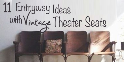11 entryway ideas with vintage theater seats fi