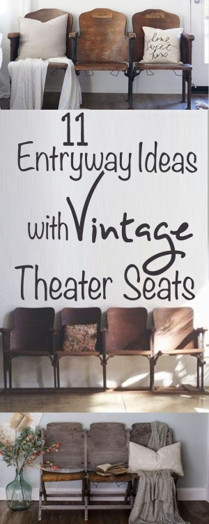 11 entryway ideas with vintage theater seats