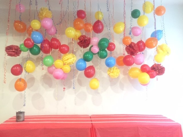 balloons birthday decor curling ribbon tamcam10