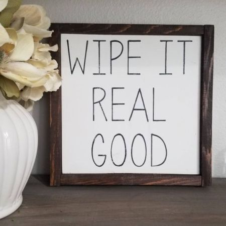 funny bathroom signs for a good laugh wipe it real good