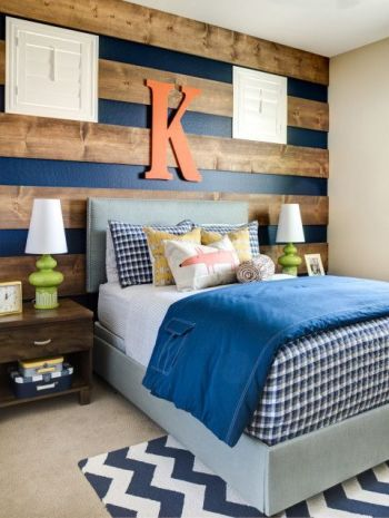 boys bedroom wall idea wood planks tamcam10