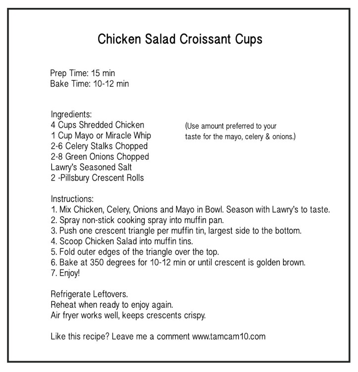 chicken salad croissant cups tamcam10