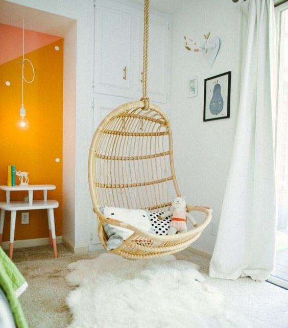 girls bedroom decor ideas hanging chairs swings tamcam10