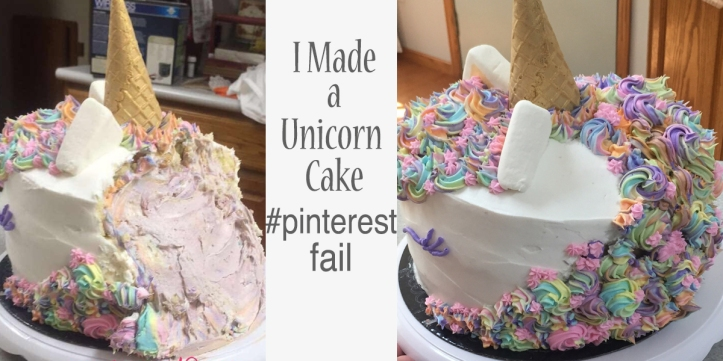 i made a unicorn cake pinterest fail learn from my mistake