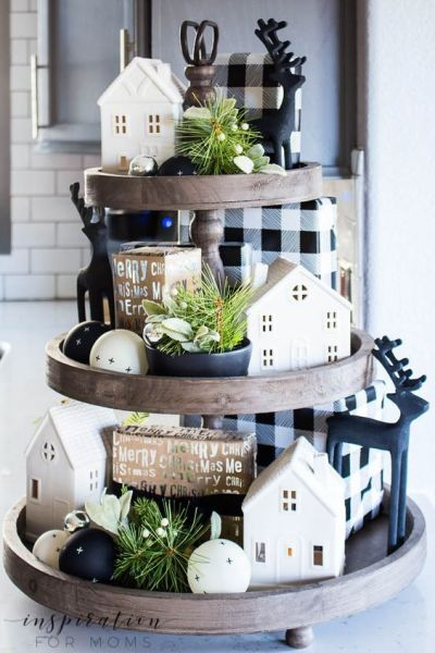 tiered tray decor ideas farmhouse chirstmas