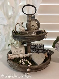 tiered tray decor ideas farmhouse style
