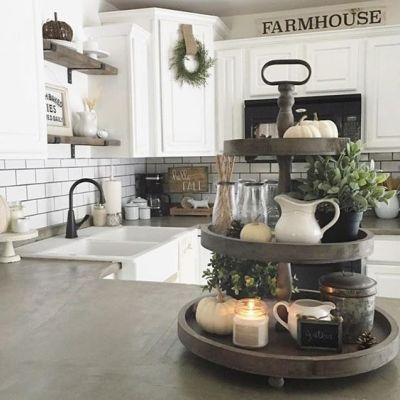 tiered tray decor ideas farmhouse