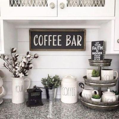tiered tray styling rae dunn coffee bar faith