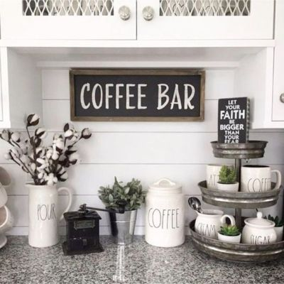 tiered tray styling rae dunn coffee bar faith