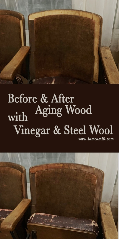 Before and After Aging Wood with Vinegar and Steel Wool tamcam10