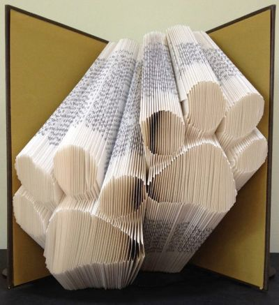 Decorate with Books and Book Pages Folded Pages Art Puppy Paws