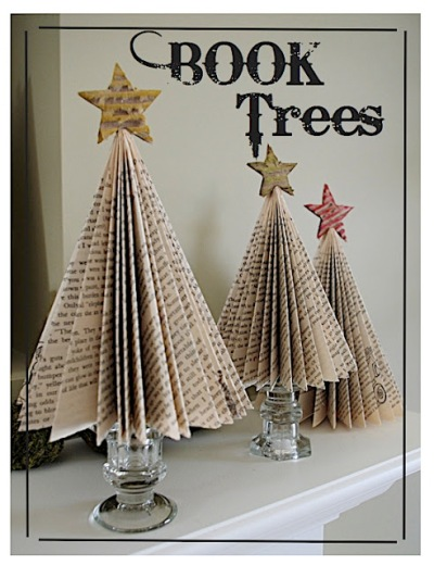 Decorate with Books and Book Pages Folded Pages Book Trees
