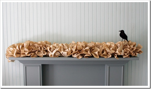 Decorate with Books and Book Pages Garland Fireplace Mantle Decor