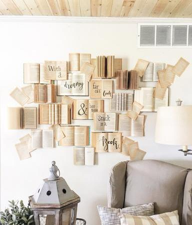 Decorate with Books and Book Pages Write on Books Make a Statement