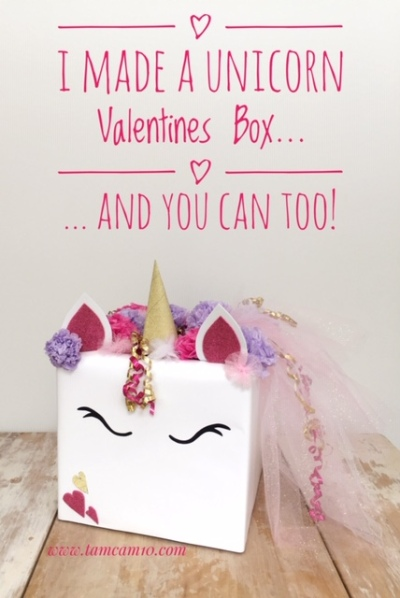 I Made a Unicorn Valentines Box and you can too! tamcam10