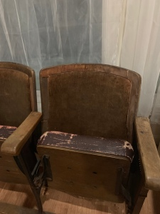 Vintage Theater Chairs Aging Wood After tamcam10