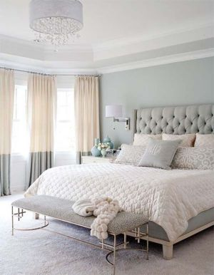 Tufted Headboad Tall Grey Favorite