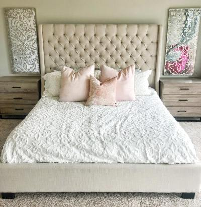 Tufted Headboard Buy Linen Wingback (2)