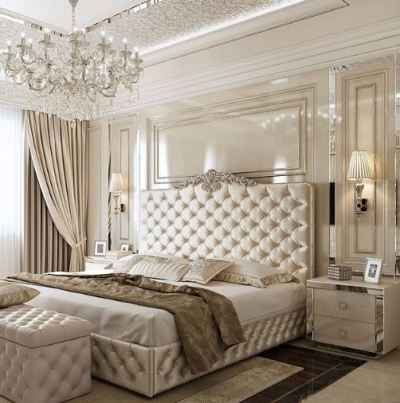 Tufted Headboard Tall Ornate Luxury Favorites