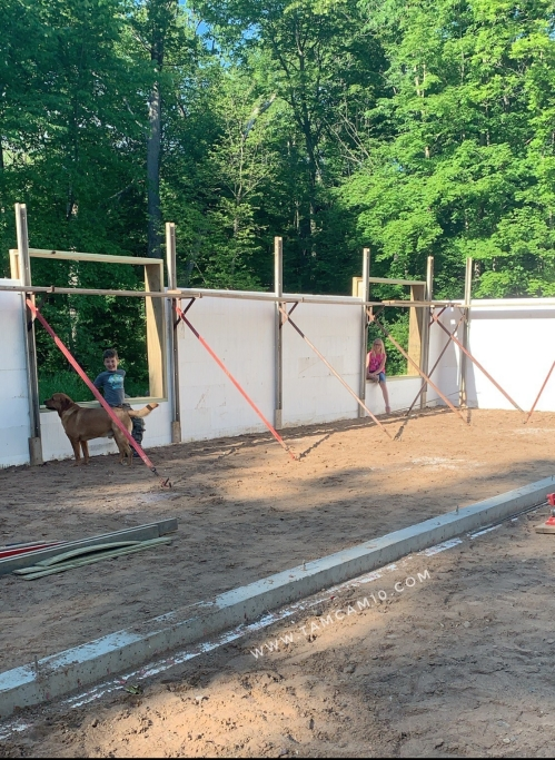 building a house, ICF, Insulated Concrete Forms, tamcam10