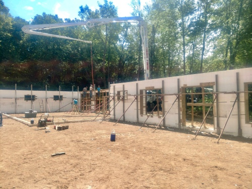ICF Insulated Concrete Forms Concrete Pour Home Building tamcam10