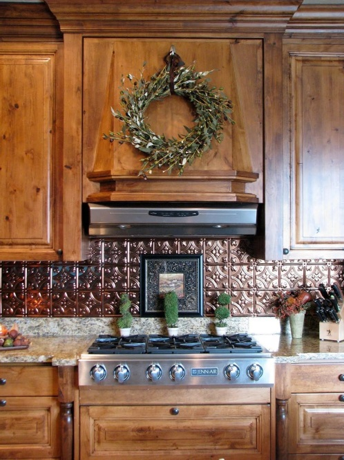 Ceiling Tin Kitchen Backsplash 1