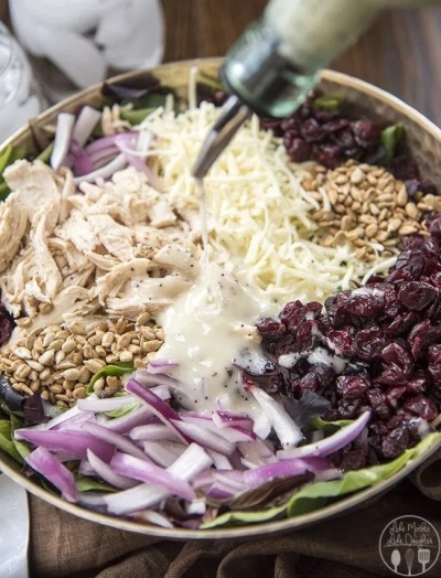 Chicken Cranberry Sunflower Salad Family Reunion Dish LMLD