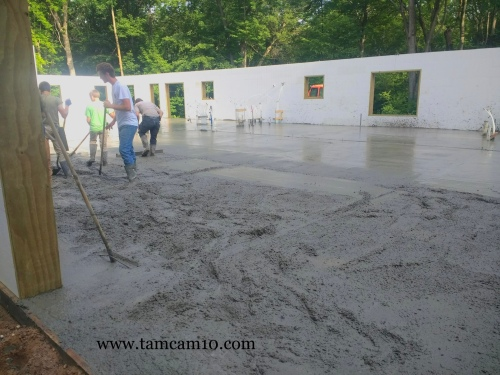 Concrete Floors Poured Cement Home Building tamcam10