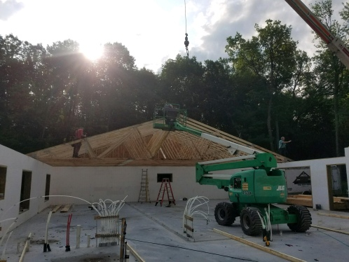 Home Building ICF House Roof Rafters