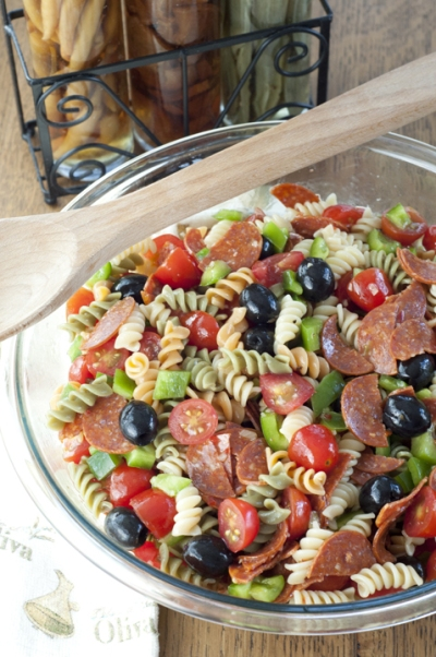 Italian Salad Family Reunion Dish to Pass Wishesndishes