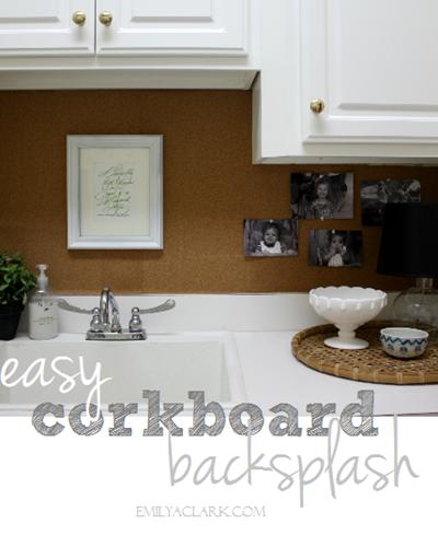 Kitchen Backsplash Corkboard Emilya Clark