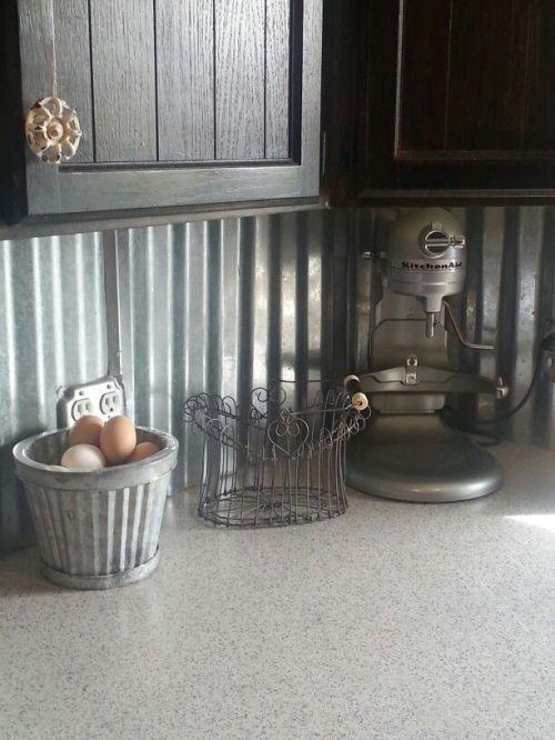 Kitchen Backsplash Ideas Corugated Metal