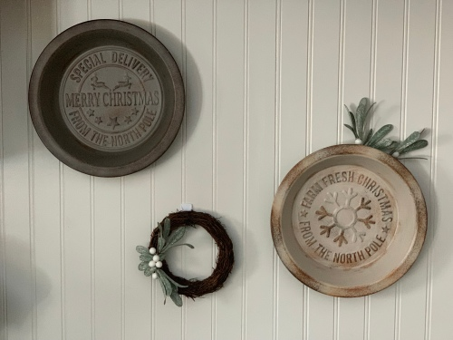 Vintage Inspired Pie Pans, Christmas Decor, tamcam10