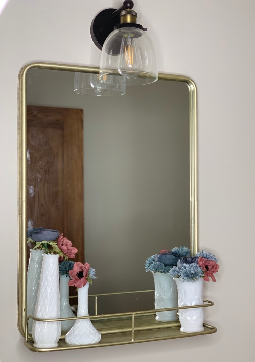 Spring Decor Pharmacy Mirror Gold Small Bathroom tamcam10