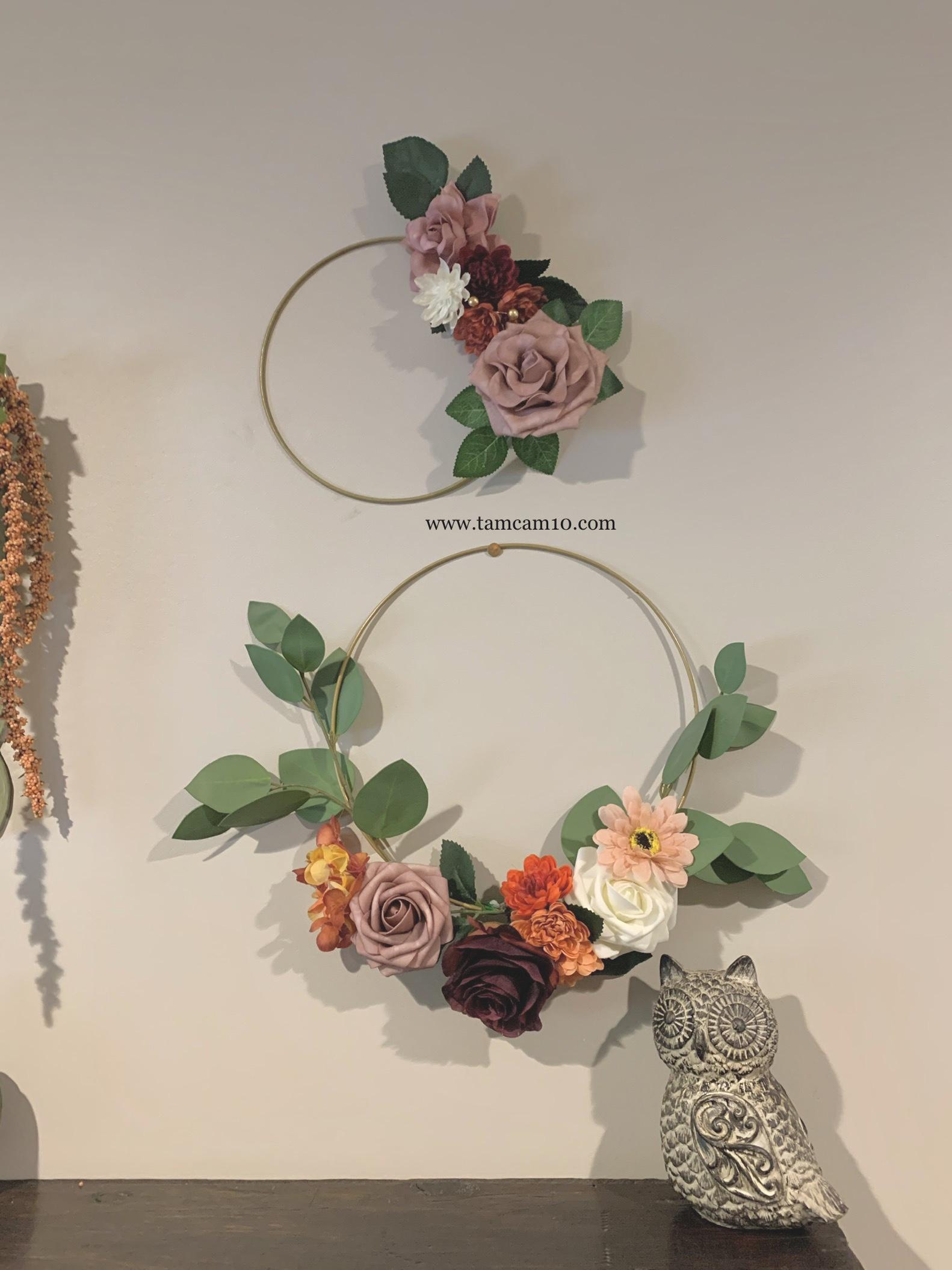 Fall Decor | Entry Way | Pretty Fall | Fall Decor Ideas | Floral Hoops | Fall Florals | Owl | tamcam10